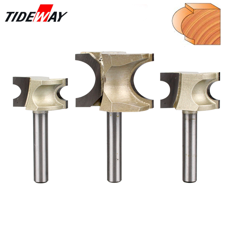 цена на Tideway 1/4 Shank Half Round Bit Industrial Grade Endmill Router Bits Cutters for Wood End Mill Woodworking Tool Milling Cutter