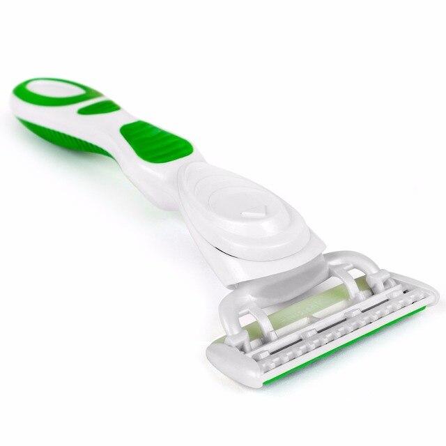 Бритвенный станок для женщин Qshave Green Series (только ручка)