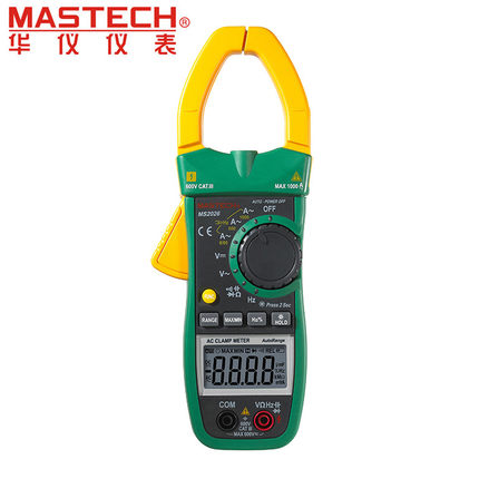 MASTECH MS2026 Digital AC Current Clamp Meter Auto Range Ammeter Voltmeter Ohmmeter w/ Capacitance & Frequency Test auto digital multimeter 6000counts backlight ac dc ammeter voltmeter transform ohm frequency capacitance temperature meter xj23