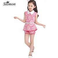 2017 Summer Children S Clothing Girls Lace Korean Female Children S Clothing Children Suit Children From
