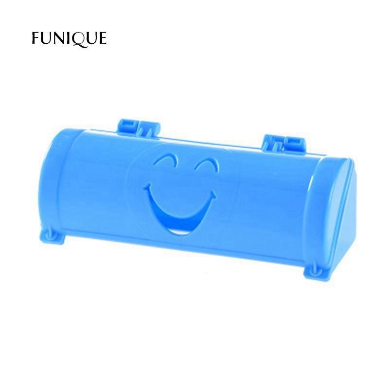 FUNIQUE Candy Color Smile Paste Hanging Garbage Bag Storage Boxes Garbage Bag Storage Basket Sundries