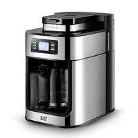 1.2L кофе машина Электрический Maker Cafetera молочного вспенивания Автоматическая, Жарка кофе шлифовальные станки с горшок для офиса и дома