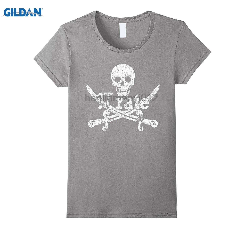 GILDAN Pi Rate March 14 Pirate 3.14 Funny Math Distressed T-Shirt Original Printed Short Sleeve Top summer dress T-shirt