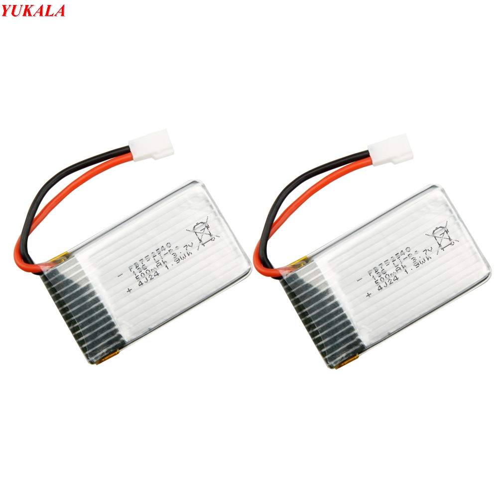 все цены на YUKALA X5C X5SC Battery RC Drone Quadcopter Spare Parts Set Li-po Battery 3.7V  500mah 2pcs  Free Shipping онлайн