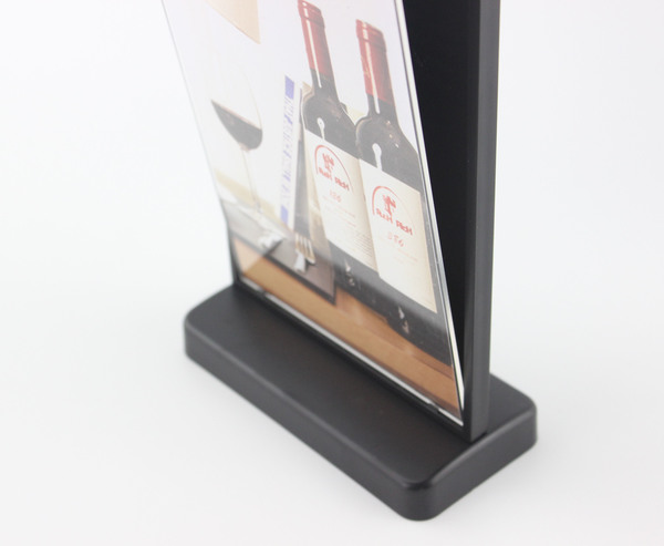 A4 Uhoo Table Desktop Soft Label Holder Banner Poster Sign Card Display Rack Picture Photo Frame Literature Advertising Rack Pop Office & School Supplies Desk Accessories & Organizer