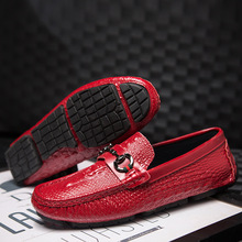 luxury Brand Male Crocodile Leather Shoes New Men's Casual Shoes Loafers Driving Shoes Moccasin Men Flat Shoes Casual Loafers 8