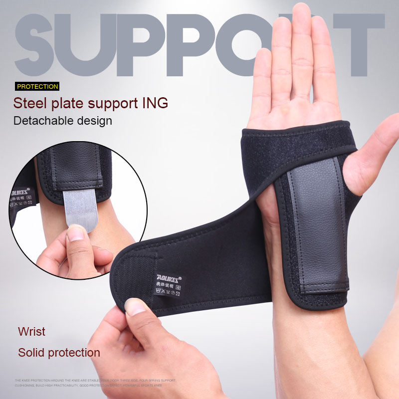 BESGO 1PCS Adjust Wristband Steel Wrist Brace Wrist Support Splint Fractures Carpal Tunnel Sport Sprain Mouse Hand Wristbands