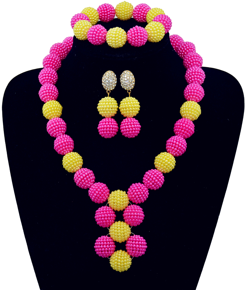 Purple Costume African Jewelry Sets Nigerian Beads Wedding Jewelry ...