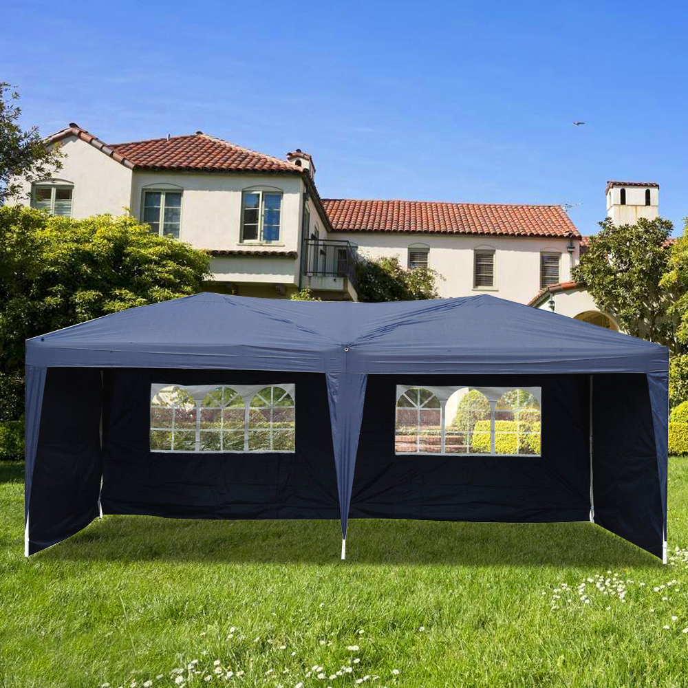 Lotto 3 x 6m Two Windows Practical Waterproof Folding Tent Blue Outdoor Gazebo Canopy Wedding Garden Party Tent US Free Shipping