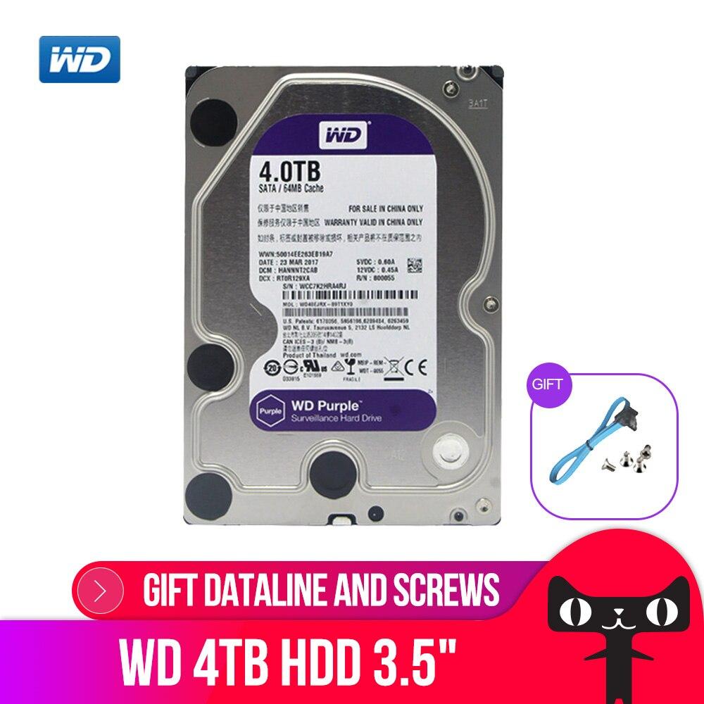 DEO Violet 4 TO HDD Surveillance Disque Dur-5400 RPM Classe SATA 6 Gb/s 64 MB Cache 3.5 pouces-WD40EJRX