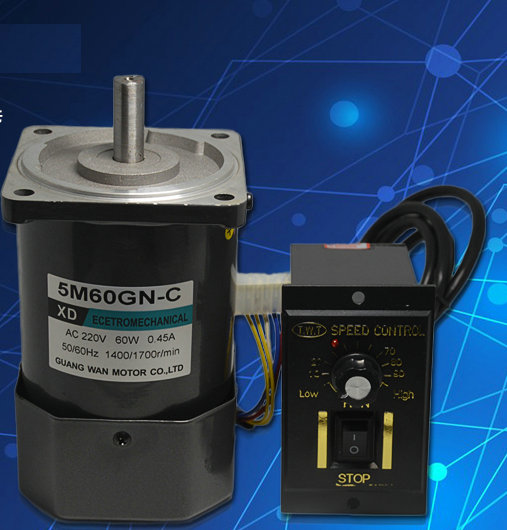 AC 220V 60W 1400 / 2800RPM 90 * 90 * 126MM XD-5M60GN-CC AC speed motor / DIY accessoriesAC 220V 60W 1400 / 2800RPM 90 * 90 * 126MM XD-5M60GN-CC AC speed motor / DIY accessories