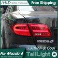AKD Car Styling for Mazda 6 LED Tail Lights 2004-2013 Mazda6 Tail Light Rear Lamp DRL+Brake+Park+Signal