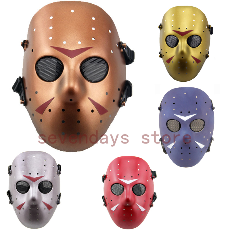 Jason And Freddy Vs Jason Mask Halloween Memorial Classics Film Jason Cs Airsoft Paintball Dummy Gas Mask Cosplay Masquerade Festive & Party Supplies Party Masks