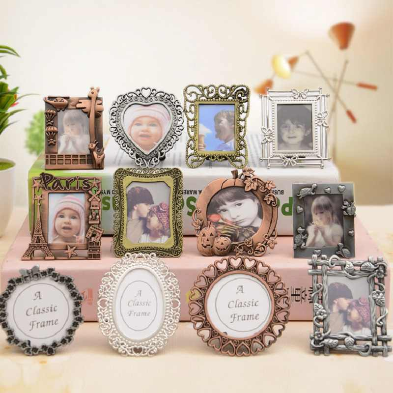 Creative MINI Retro Painting Frame European Style Decorative DIY Photo Frame Pendant Home Decoration Parts Desk Decoration Gift
