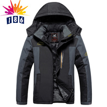 Winter season new big yards 5XL6XL7XL8XL9XL Plus thick velvet Hooded jacket men s Windproof waterproof casual