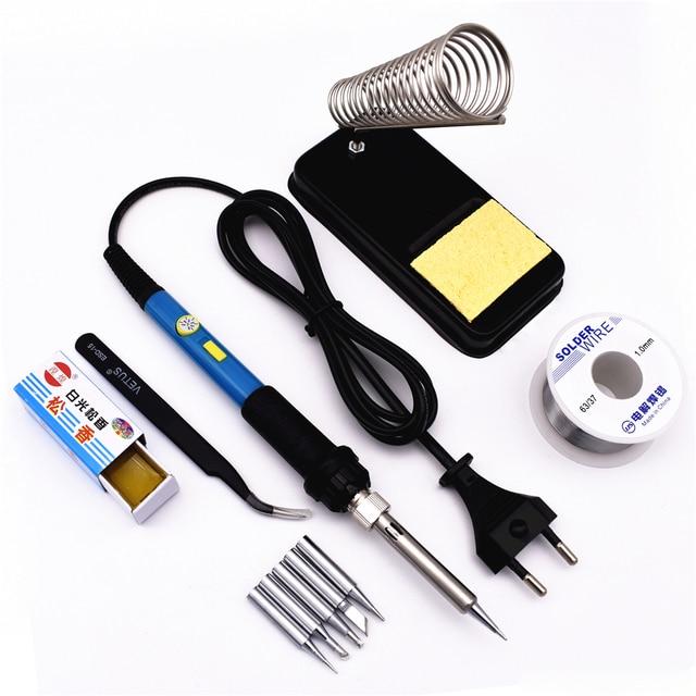 Elektrische Lötkolben Kit 60 Watt 220 V Einstellbare Temperatur mit ...