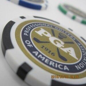 Image 5 - 12EA new design pga golf poker chip ball marker many color 40cm dia 11.5g best seller golf ball marker