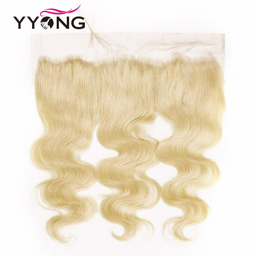 Yyong  Body Wave 613 Bundles With Frontal  Blonde Bundles With Closure  Lace Frontal With Bundles 4Pc/Lot 5