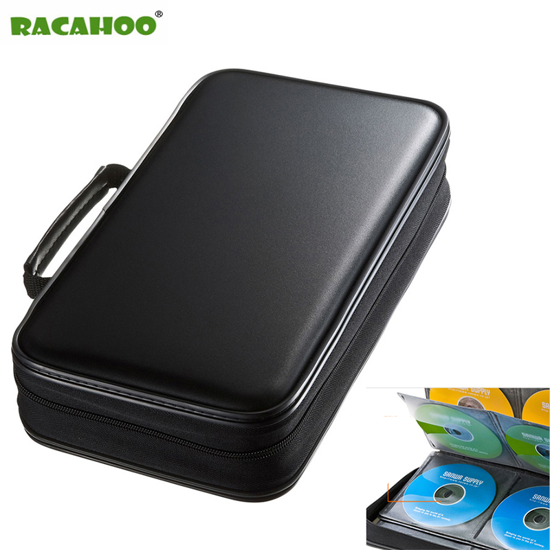 RACAHOO CD Case Blu-ray Disc Box Shockproof CD / DVD holder with Packaging 96 Discs Capacity For Car Travel Storage Equipment