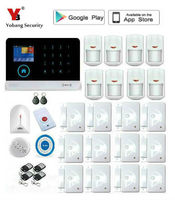 Yobang Security Wireless wif App control Home Security GSM Alarm systems Wired Siren Kit SIM SMS Alarm