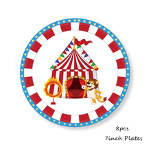 Circus Theme Birthday Party Paper Plate/Cups/Napkins Blue Monkey Elephant Baby Shower Boys Decor Supplies