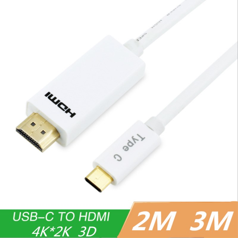 NEW ! Hot Sale Hubs USB3.1 Type C Port to HDMI Digital Cable AV Female Adapter for Macbook Cable Converter 4K Free shipping
