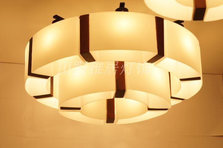 Modern Chinese Style Brief Noble Wooden Ceiling Light American Living Room Lights Fitting Solid Wood Led Lighting In From