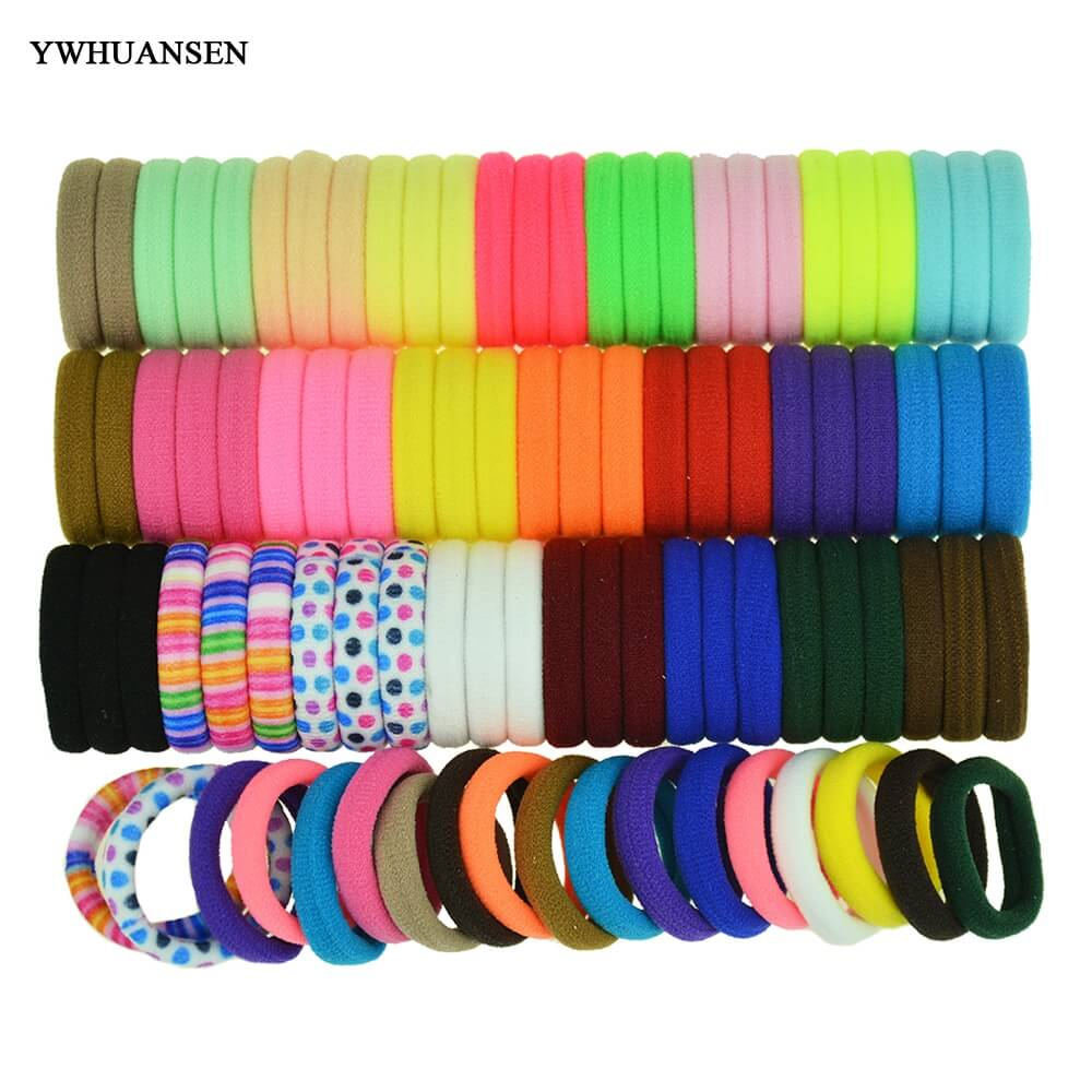 YWHUANSEN 40pcs lot Great Hair accessories Useful Elastic for the hair Nice Hair bands for women Fashion Hair band for girls
