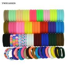 Ywhuansen 20-100 шт./пакет замечательные аксессуары для волос Полезные Эластичный для волос хорошие ленты для волос для Дамская Мода волос для девочек