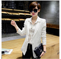 2017 New spring Autumn fashion Leisure 5XL white black long blazer plus size women Blazers blazer feminino veste femme blazer