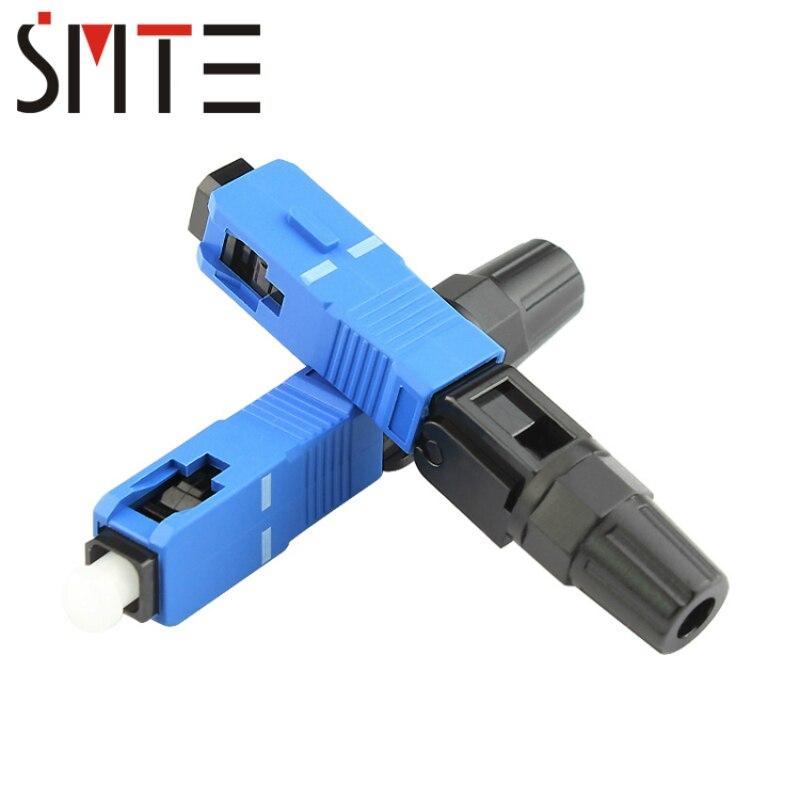 100 unids/lote UPC SC FTTH fibra óptica SC conector SC/UPC fibra óptica conector SC-UPC conector rápido de 0,3 dB