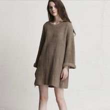 vintage Classic loose fashion knitting thick line long sleeves knitting  sweater  hedging  bottoming sweater big yards