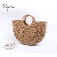 SGARR Luxury Designer Summer Straw Women Handbags High Quality Ladies Shoulder Bag New Fashion Female Half