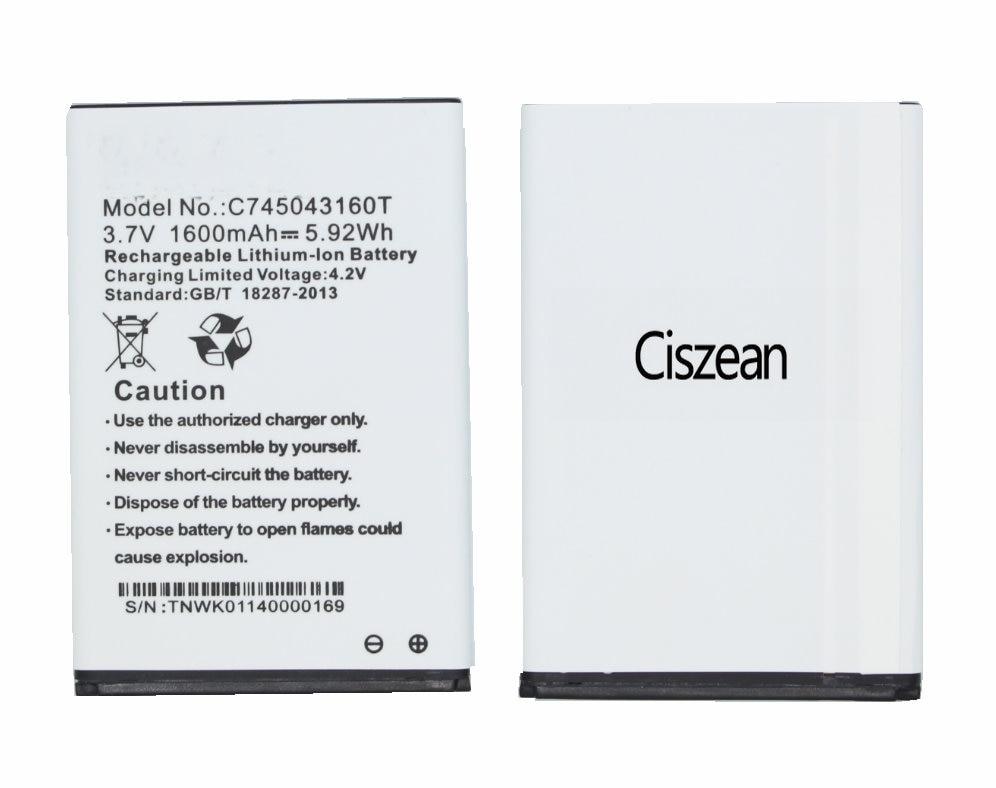 ciszean 10x 3 7v 1600mah replacement c745043160t battery for blu rh aliexpress com