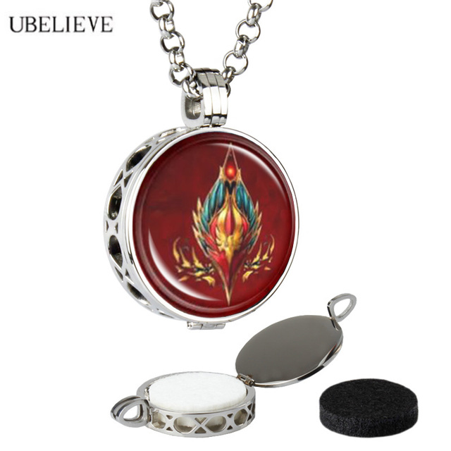 Fashion Top Sale Cheap Aromatherapy Diffuser Locket Pendant Aroma Essential Oil Hollow Perfume Locket Necklace With Chains Pads