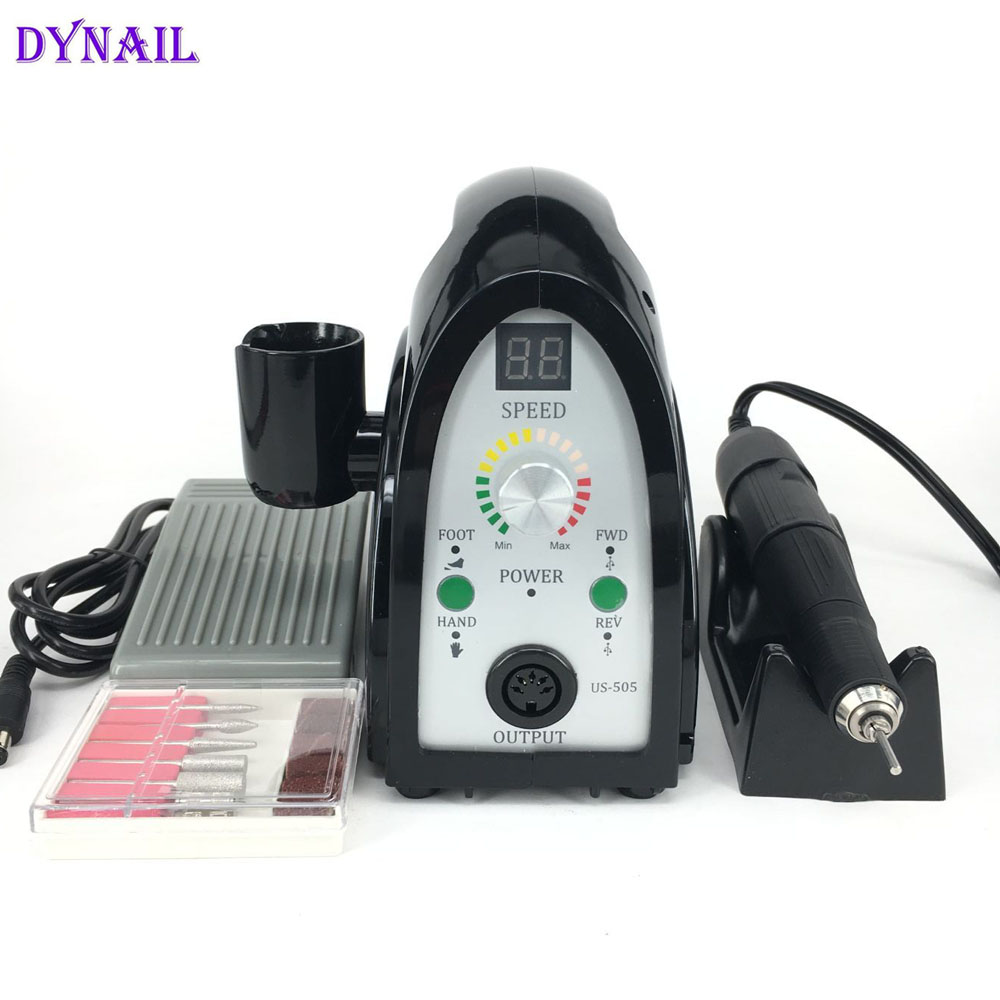 High Quality Strong Power 65W 35000RPM Electric Manicure Nail Drill Machine Nail Polisher with LCD Display 2017 new 65w 35000rpm electric nail drill machine file kit bits manicure pedicure kits nail drill machine with lcd display