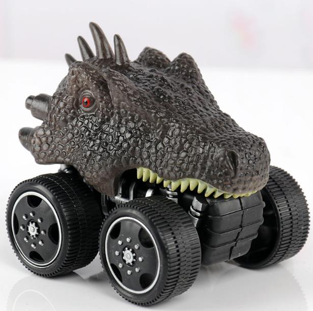 6 Styles Big Wheel Dinosaur Model Car Corps Toy For Children Tyrannosaurus Triceratops Inertia Vehicle Pull Back Truck Kids Gift