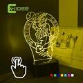 Cnhidee USB новинка ребенка спальный Lampara нба команда 3D из светодиодов ночной свет лампы с регулируемым семь цветов домашнего освещения