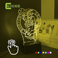 Cnhidee USB de la novedad del bebé saco de dormir Lampara de la NBA de baloncesto equipo 3D noche Led lámpara de luz con ajustable siete colores iluminación para el hogar