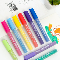 24 Colors Acrylic Painter Non Toxic Fast Dry Waterproof DIY Manga Painting Permanent Marker On Tire