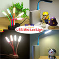 Ultra Bright Small Led Lamp Mini USB LED Light Lamp For Computer Notebook Reading PC Flexible Laptop Lamp Novelty Xmas Toy Gift
