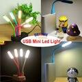 Ultra Brillante Led Pequeña Lámpara Mini USB Lámpara de Luz LED Para ordenador Portátil de Lectura Flexible PC Portátil Lámpara de La Novedad de Juguete de Regalo de Navidad