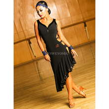 Best Choice For Dance Studio Latin American Dresses Women Black Passion Practice Sale