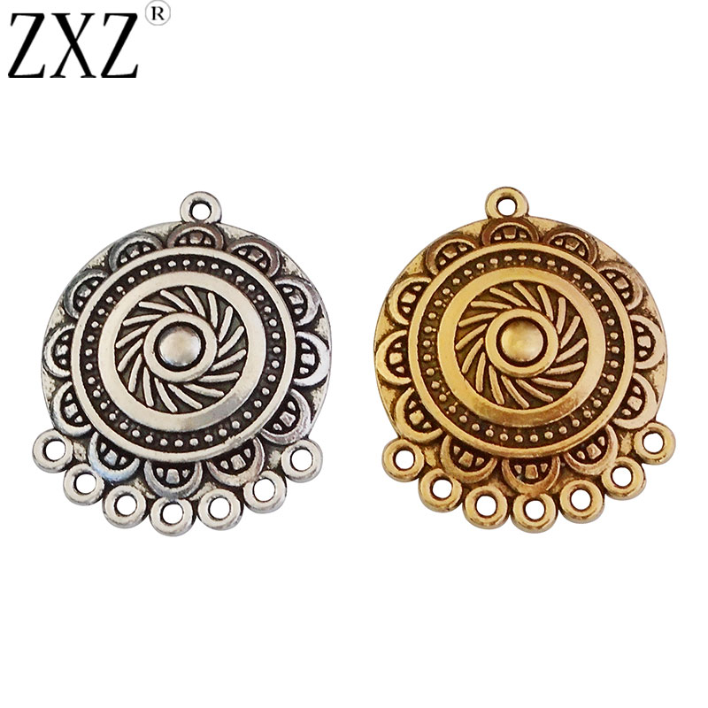 8 pcs Gold Chandelier Earring Component connector pendant