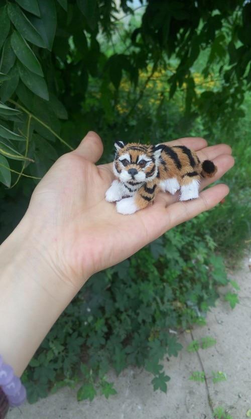 mini simulation tiger toy polyethylene & furs lying tiger doll gift about 8x4CM 276 big simulation lying dog polyethylene