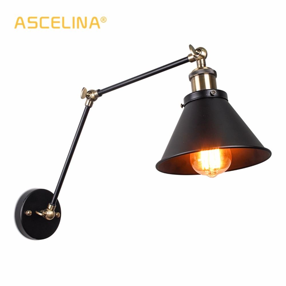Lâmpada de Parede do vintage luzes de parede Industrial Ajustável led Wall light arandelas de parede Luz Do Quarto país da América Retro iluminação