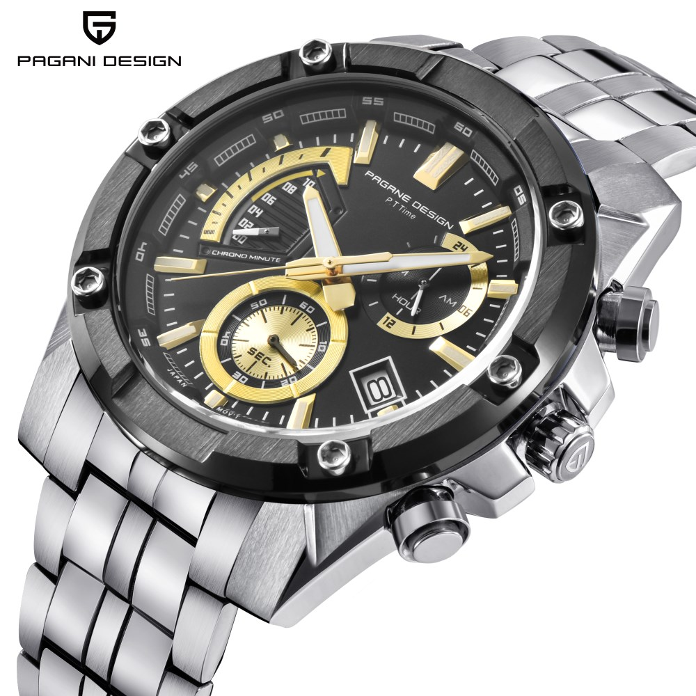 Watches Men Luxury Brand PAGANI DESIGN Sport Watch Dive Military Watches Multifunction Quartz Watch Clock Men Relogio Masculino reloj hombre pagani design sport leather strap watches men top brand luxury multifunction quartz watches clock relogio masculino
