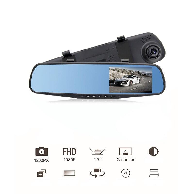 4,3 Zoll Auto Rückspiegel Video Monitor Digitalkamera GROßE Eingebauter Lautsprecher Zyklus-aufnahme HD CCD Objektiv Auto DVR