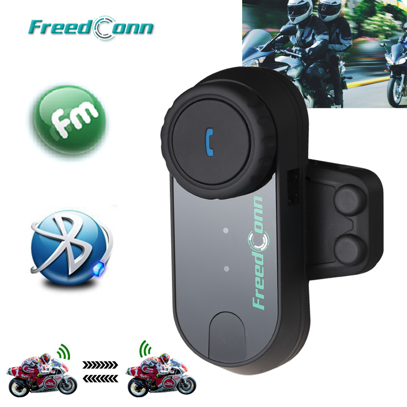 Updated Version! FreedConn T-COMVB Motorcycle Helmets BT Bluetooth Interphone Headsets Helmet Intercom With FM Radio