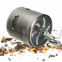 4 Layers Zinc Alloy Hand Muller Crank Herb Mill Crusher Tobacco Smoke Cigarette Cigar Grinder Smoking